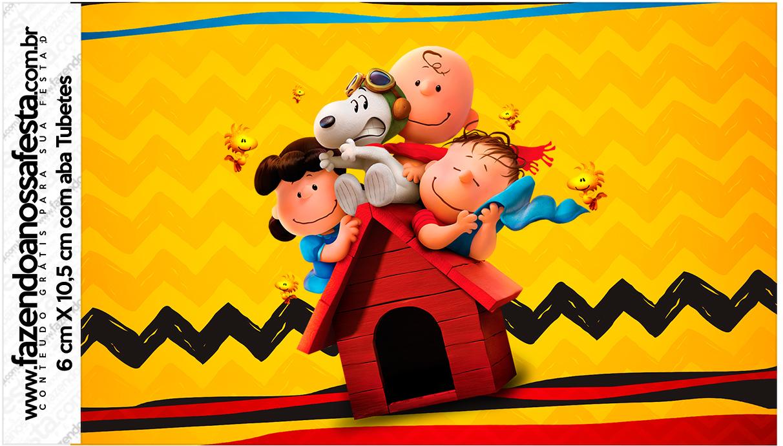 Rotulo Tubetes Snoopy e sua Turma