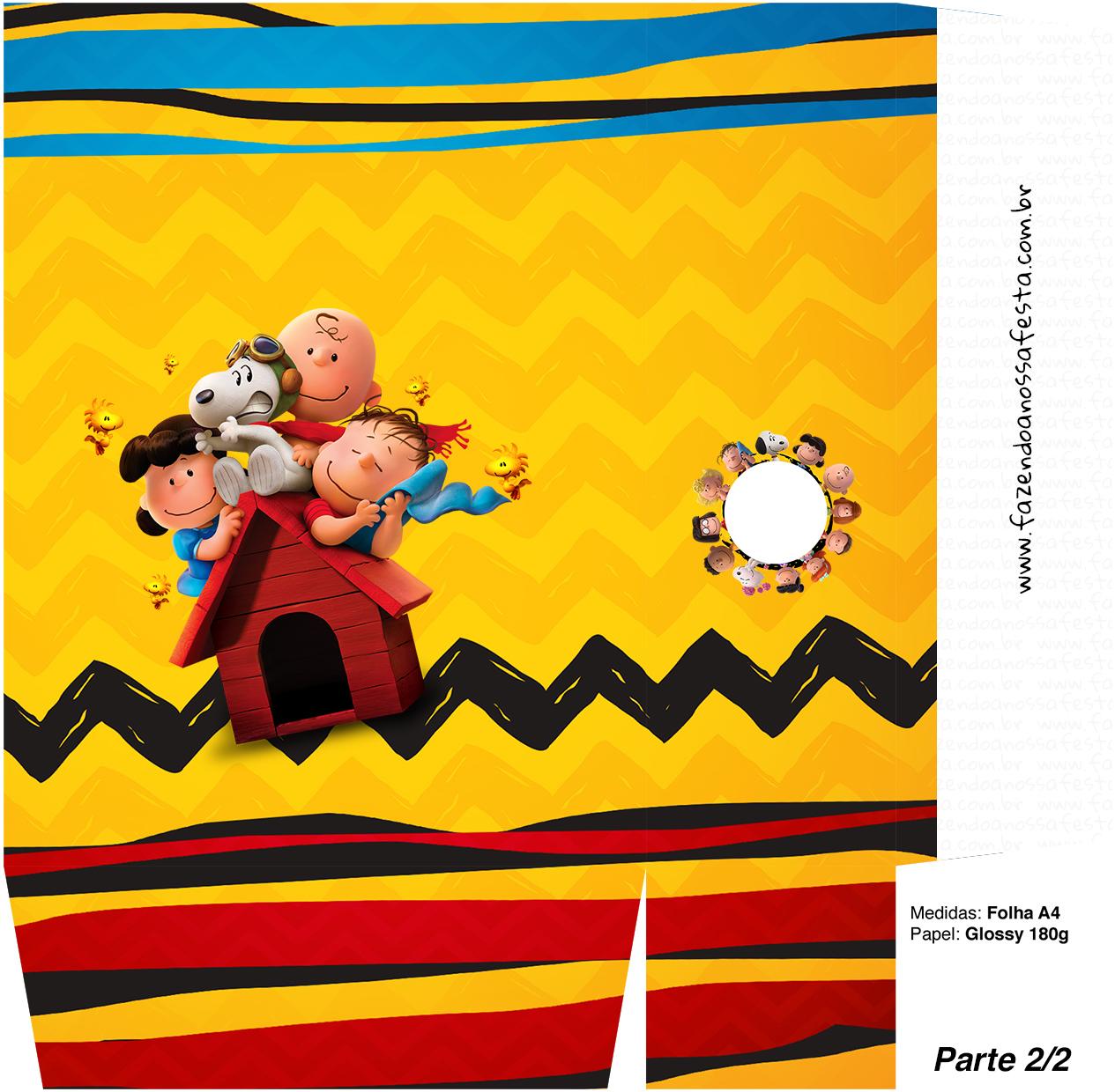 Sacolinha Kit Festa Snoopy e sua Turma - parte 2