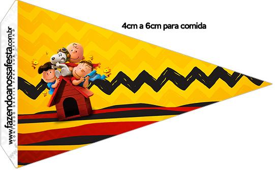 Bandeirinha Sanduiche 4 Snoopy e sua Turma