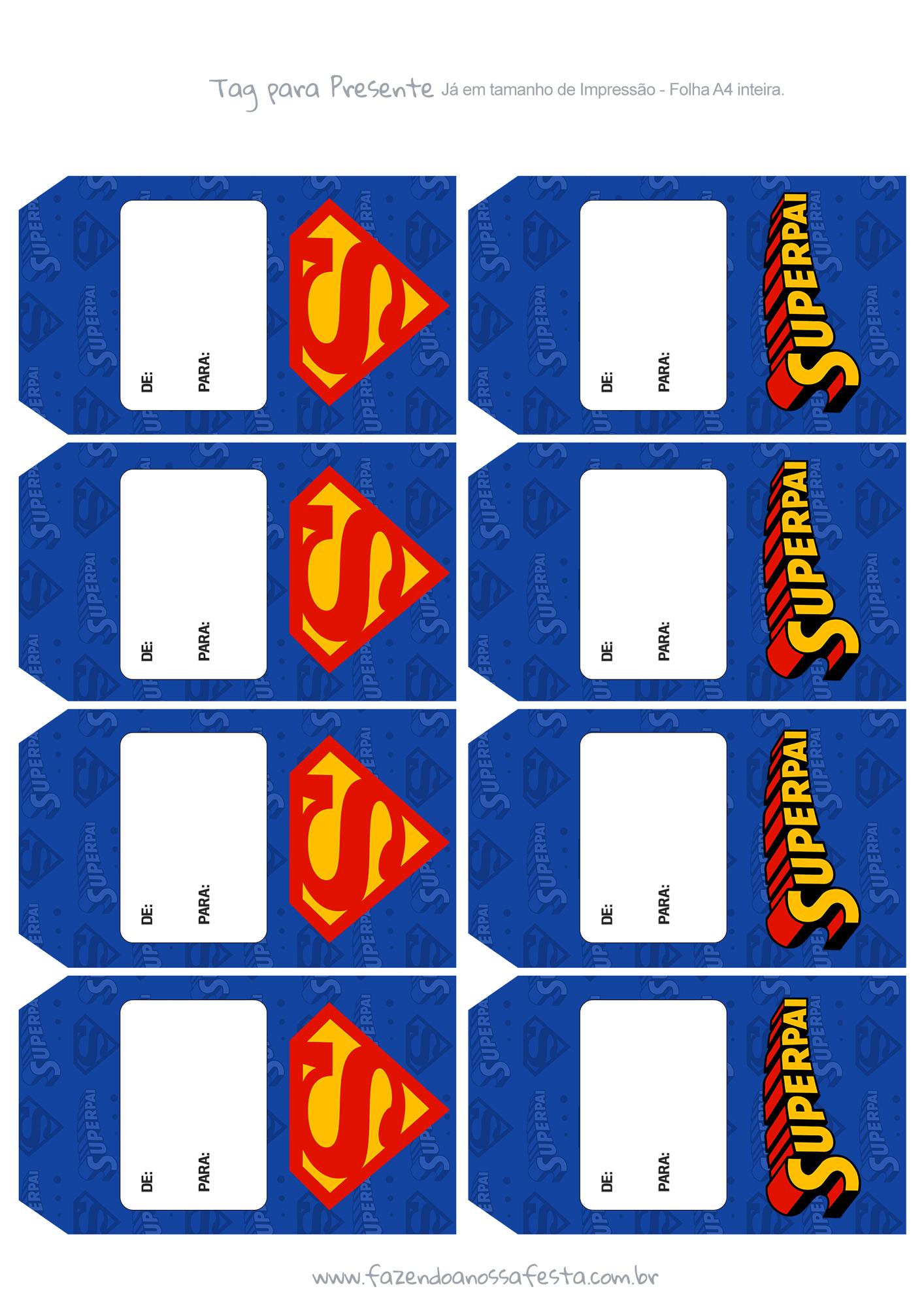 Tag Kit Presente Dia dos Pais - Super Pai