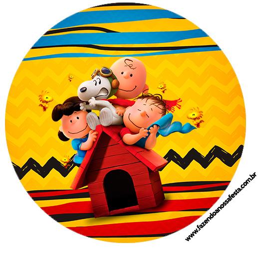Topper para docinhos Snoopy e sua Turma