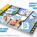 Convite Gibi Snoopy e sua Turma – Grátis