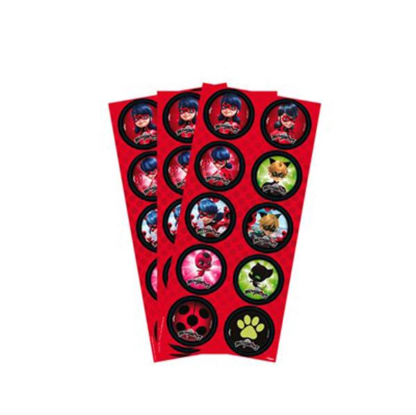 Adesivos para latinhas Tudo para festa Miraculous Ladybug