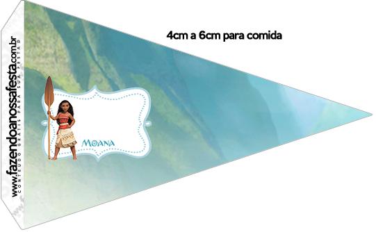 Bandeirinha Sanduiche 2 Kit Moana
