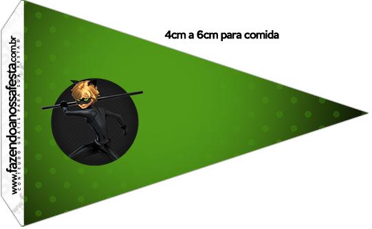 Bandeirinha Sanduiche 3 Miraculous Cat Noir