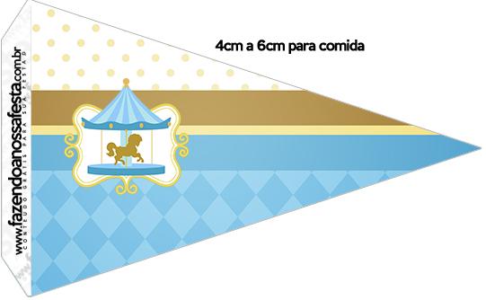Bandeirinha Sanduiche Carrossel Azul 2