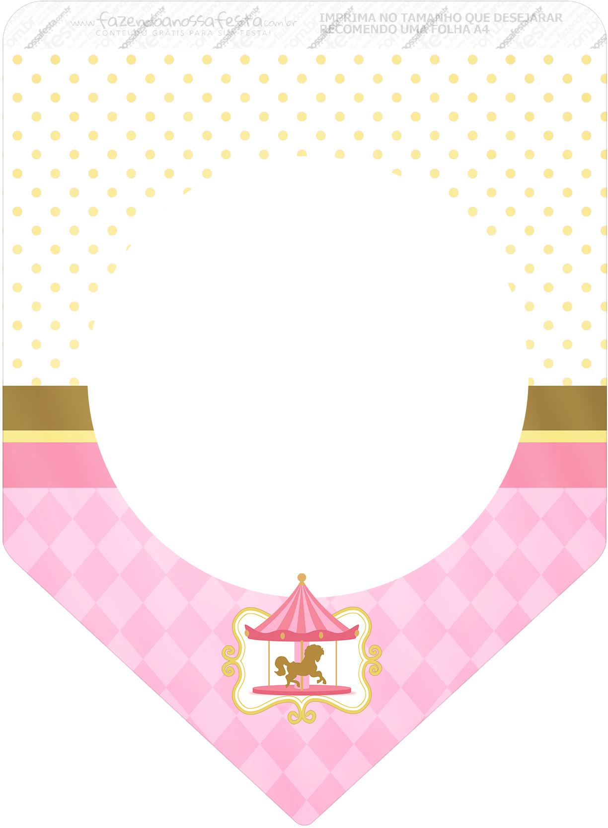 Bandeirinha Sanduiche Carrossel Encantado