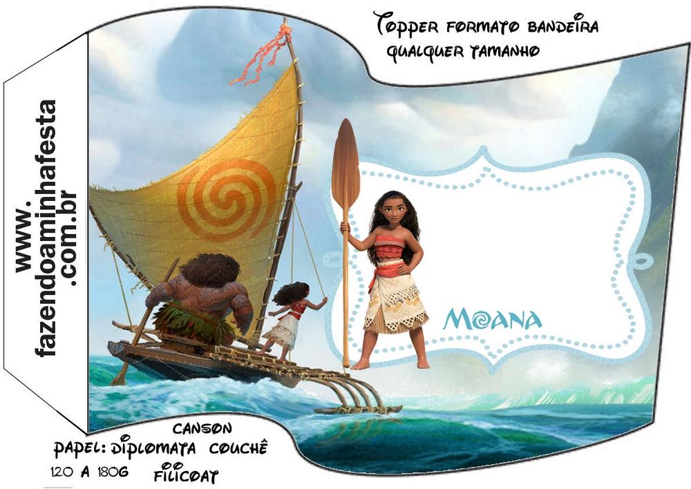 Bandeirinha Sanduiche Kit Moana