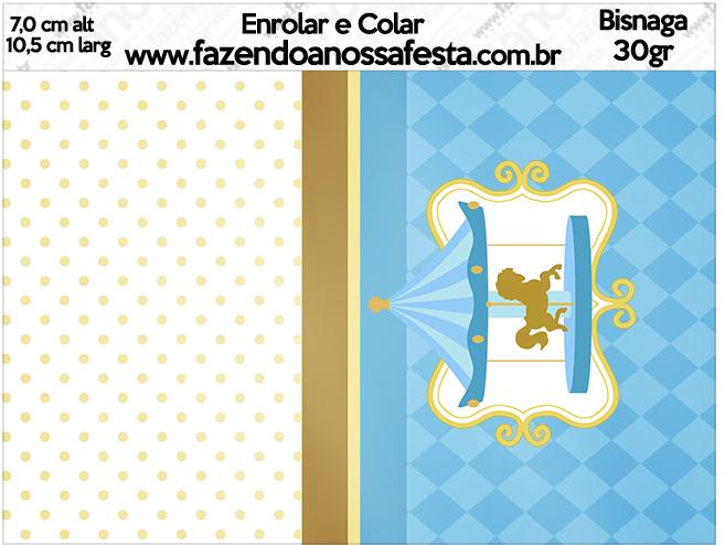 Bisnaga brigadeiro 30gr Carrossel Azul