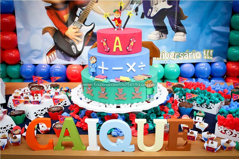 Bolo Festa Alvin e os Esquilos do Caique