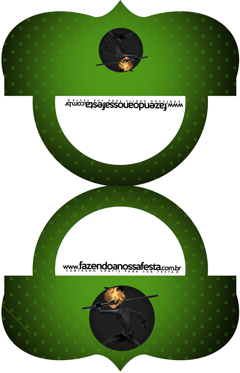 Bolsinha Saquinho de balas Miraculous Cat Noir
