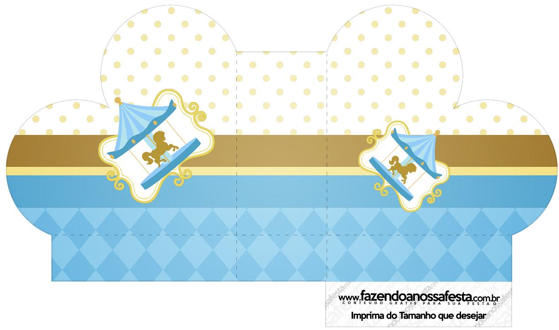 Caixa Coracao Carrossel Azul