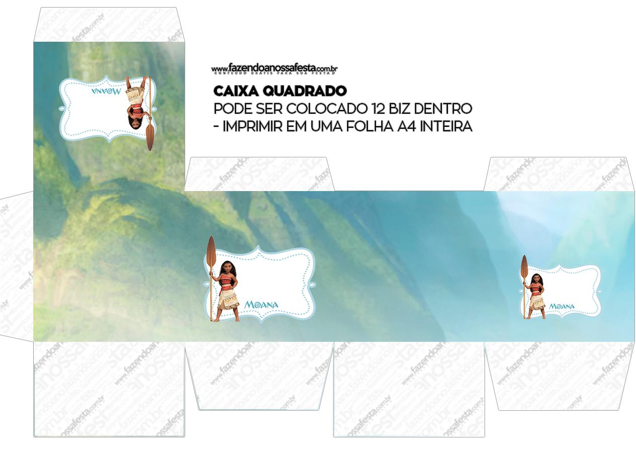 Caixa Cubo Kit Moana