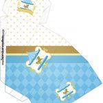 Caixa Fatia Carrossel Azul