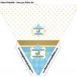 Caixa Piramide Carrossel Azul