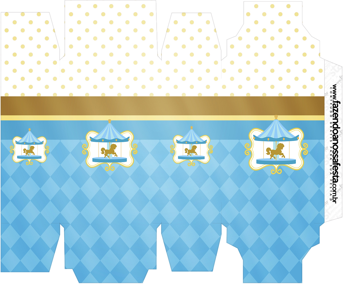 Caixa Sabonete Carrossel Azul