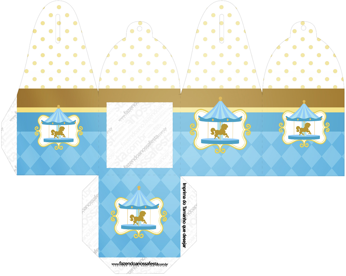 Caixa com foto Carrossel Azul
