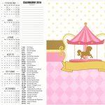 Calendário 2016 2 Carrossel Encantado