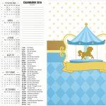 Calendario 2016 Carrossel Azul