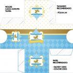 Convite Caixa Tampa Carrossel Azul