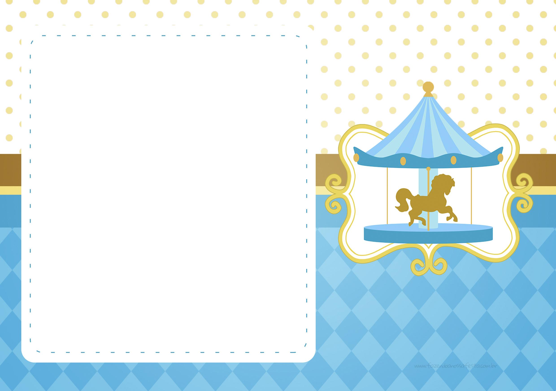 Convite Carrossel Azul 2