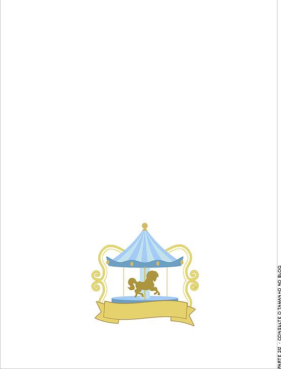 Convite Kit Festa Carrossel Azul 3