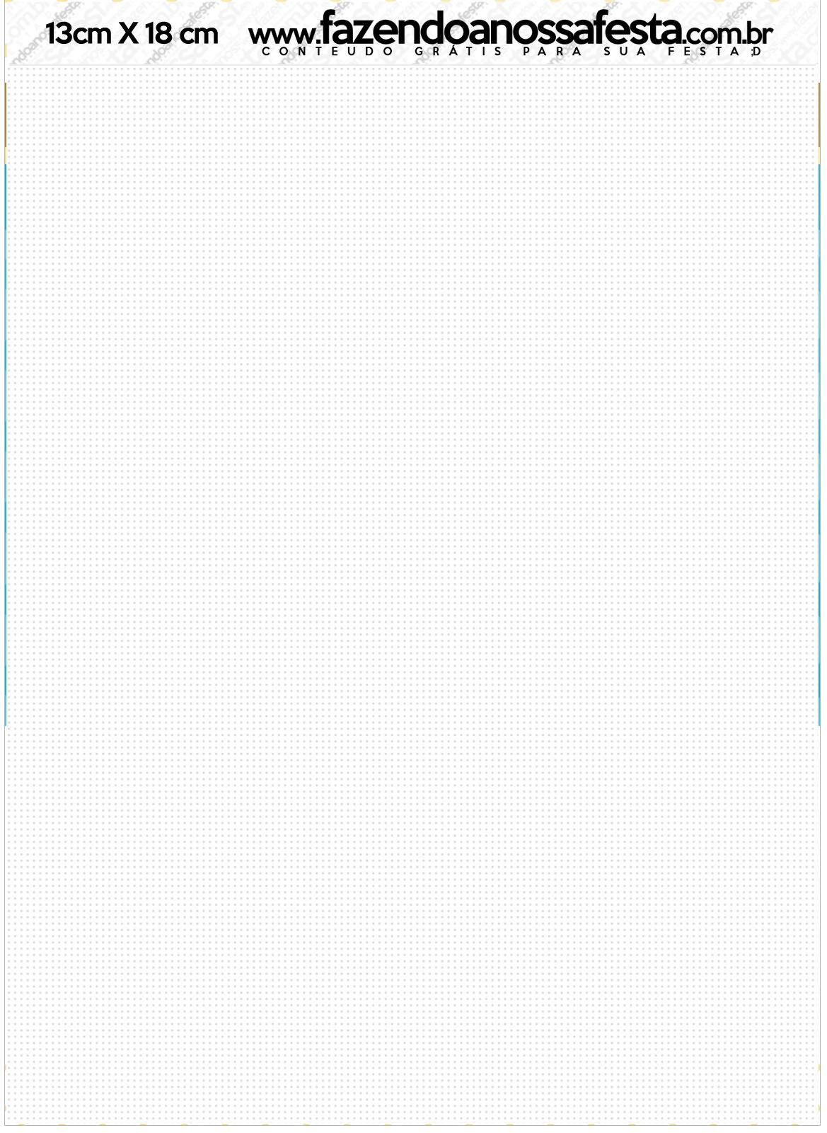 Convite Envelope Carrossel Azul