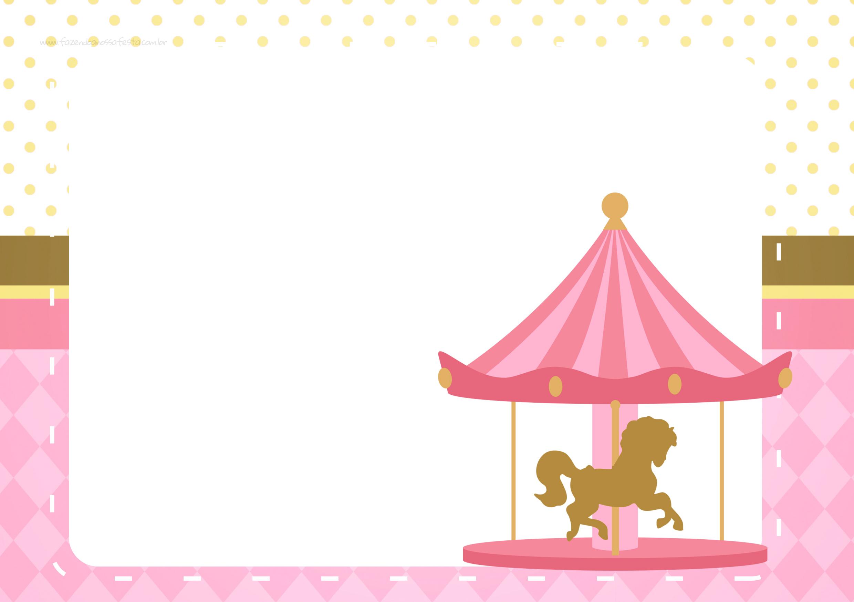 Convite Festa Carrossel Encantado