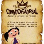Convite Pergaminho Show da Luna