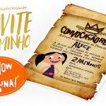 Convite Pergaminho Show da Luna Grátis