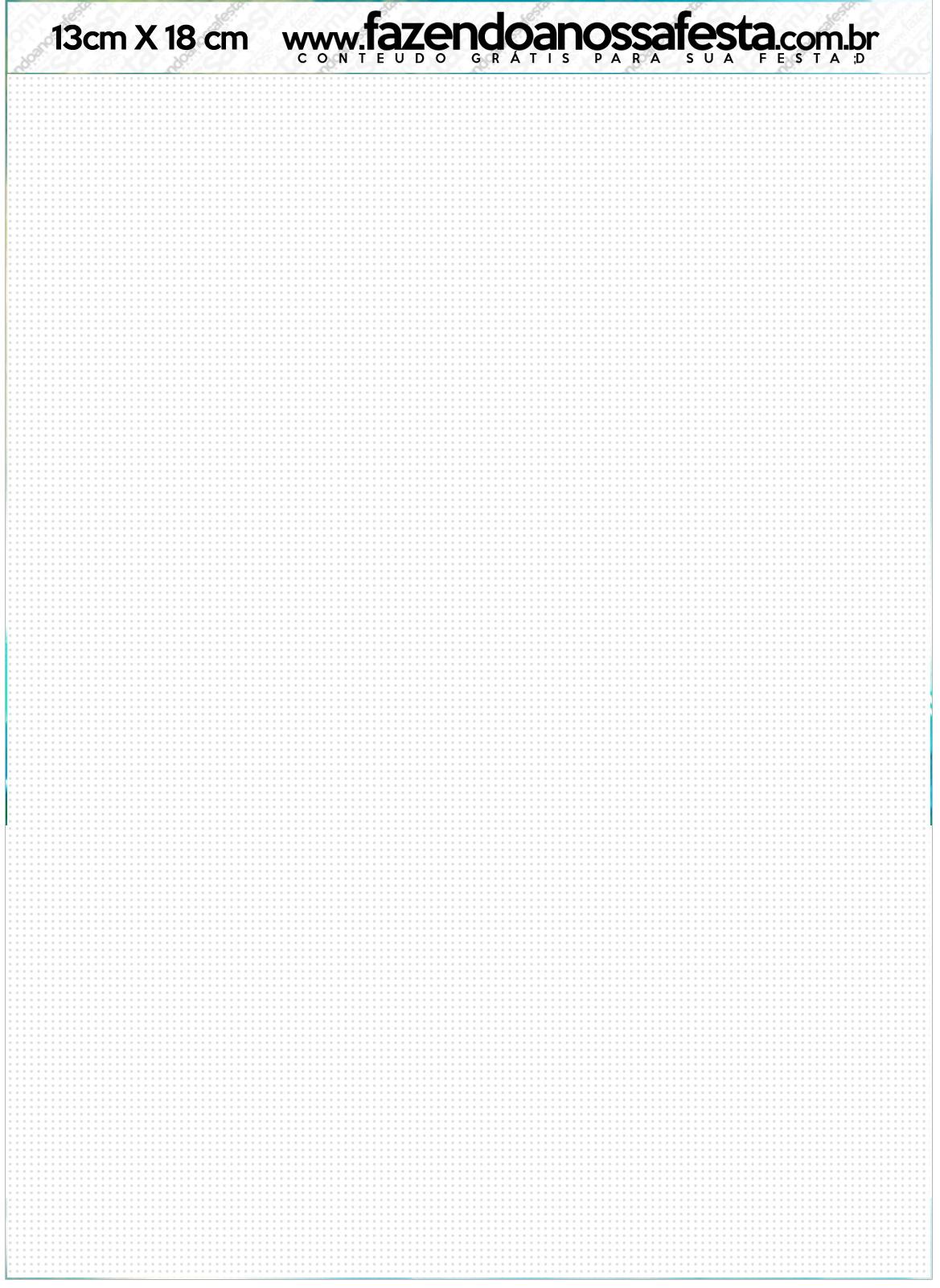 Convite com envelope Mini Kit Moana