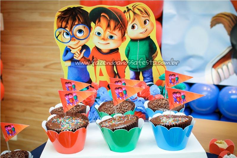 Cupcakes Festa Alvin e os Esquilos do Caique
