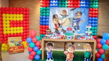 Decoracao Festa Alvin e os Esquilos do Caique