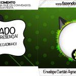 Envelope Cartao Agradecimento Miraculous Cat Noir