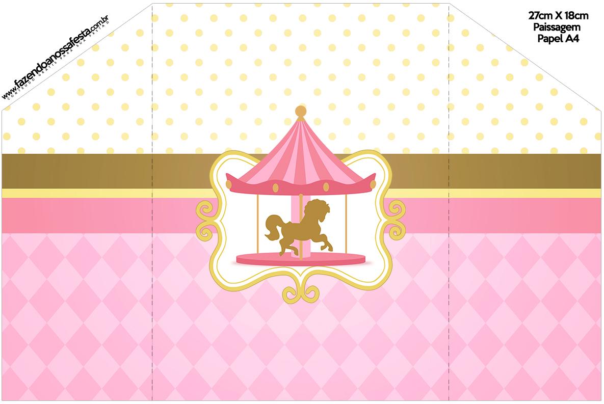 Envelope Convite Carrossel Encantado