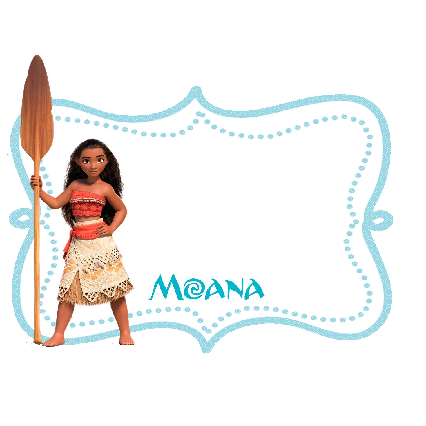 Frame Kit Moana - Fazendo a Nossa Festa