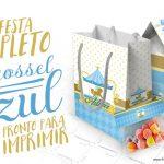 Kit Festa Carrossel Azul para Meninos Grátis para Imprimir