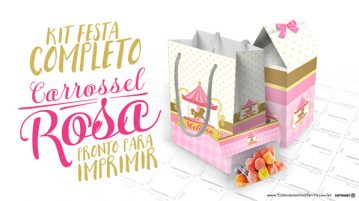 Kit Festa Carrossel Encantado