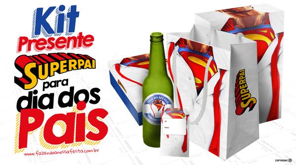 Kit Super Pai Camisa Modelo