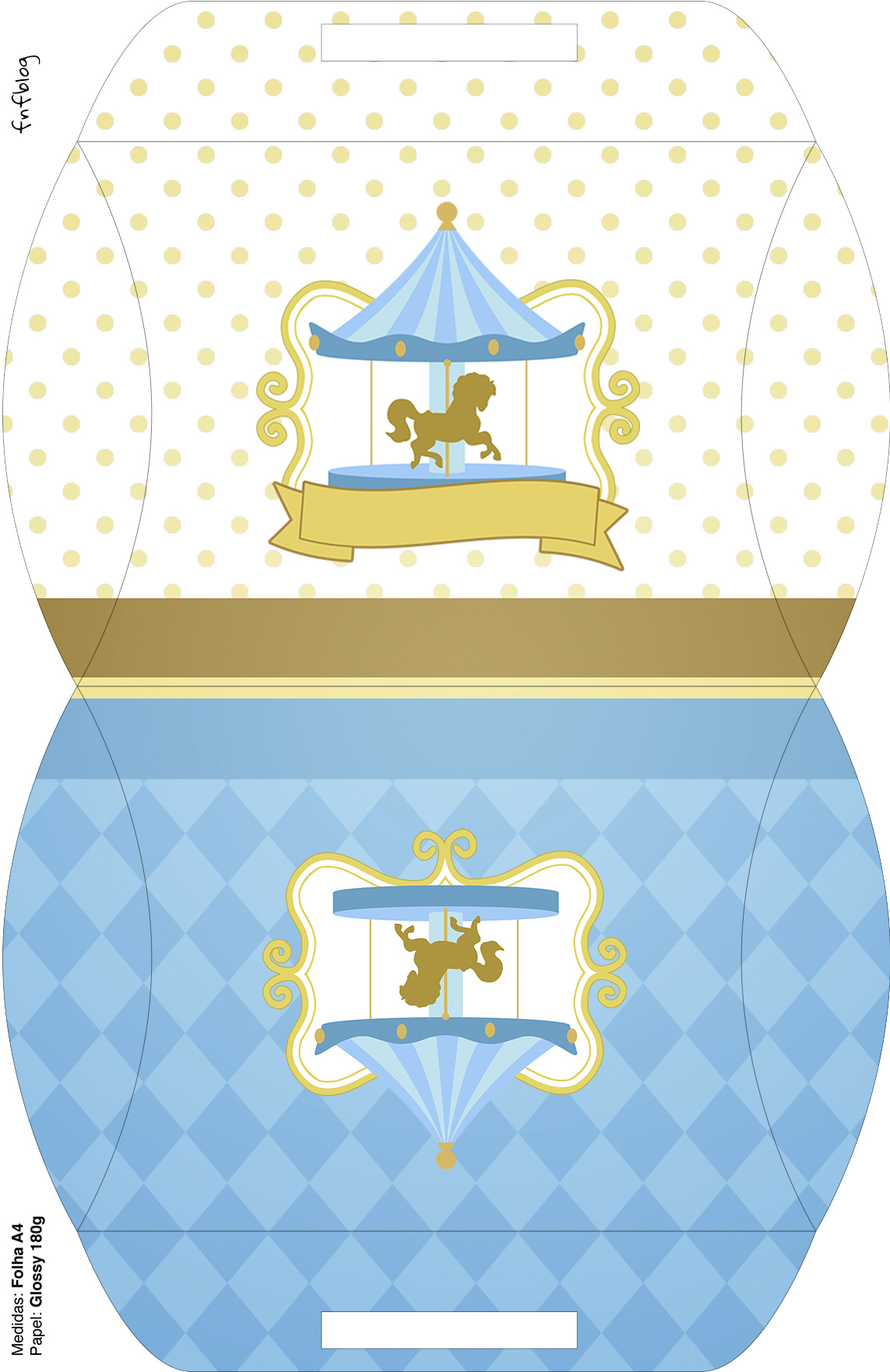Maleta Carrossel Azul
