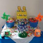 Mesa doces Festa Infantil Galinha Pintadinha do Arthur