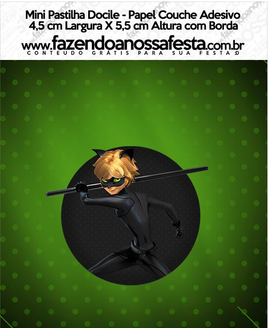 Mini Pastilha Docile Miraculous Cat Noir