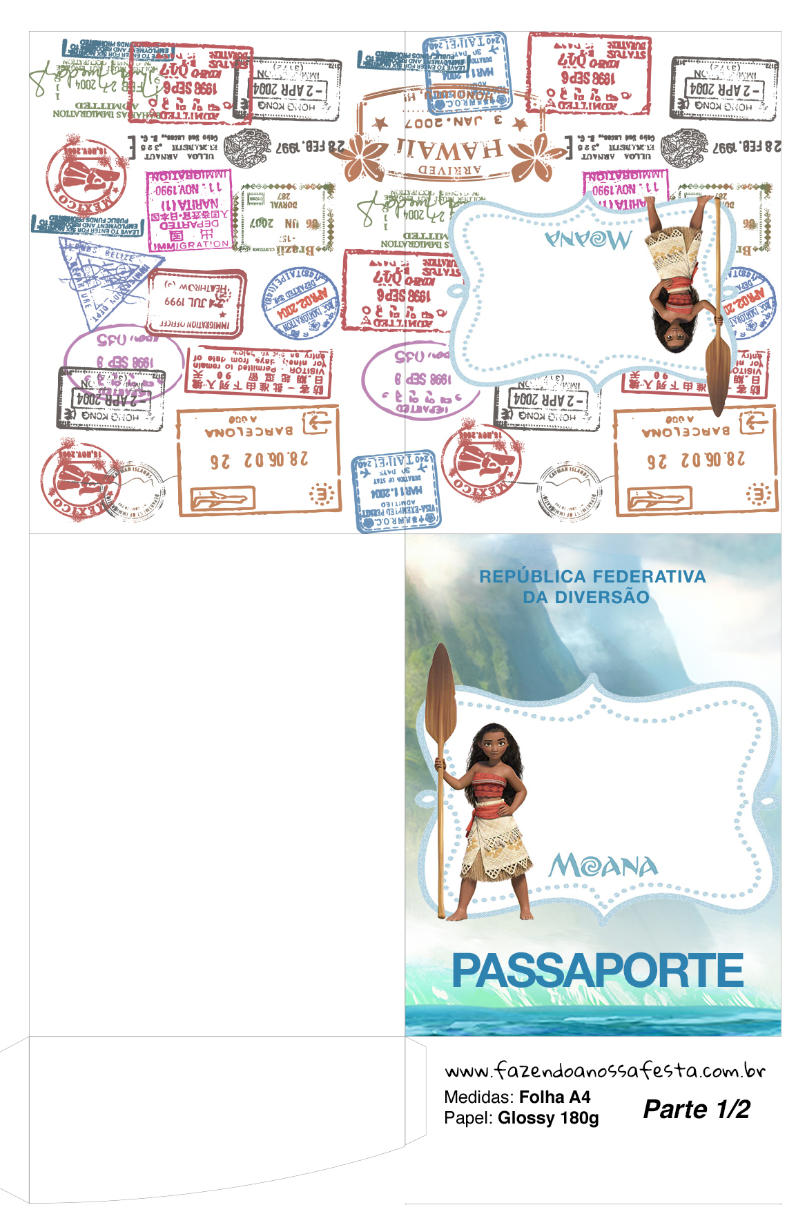 Passaporte Mini Kit Moana