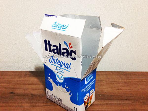 Passo 5 - Como fazer casinha de passarinho com caixa de leite