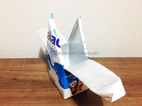 Passo 7 - Como fazer casinha de passarinho com caixa de leite