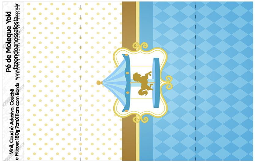 Pé de Moleque Yoki Carrossel Azul