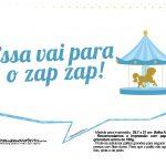 Plaquinhas divertidas Carrossel Azul 14