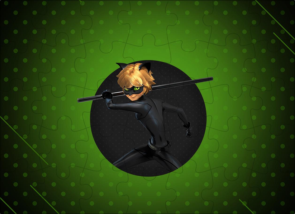 Quebra-cabeca Miraculous Cat Noir