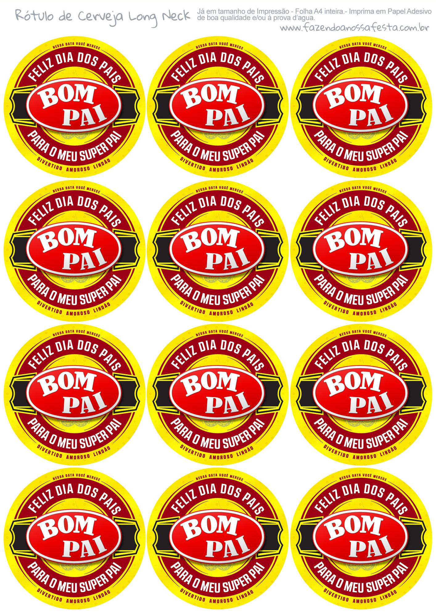 Rótulo Cerveja Kit Bom Pai
