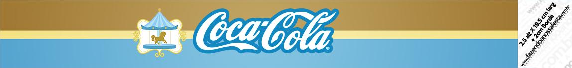 Rótulo Coca-cola Kit Festa Carrossel Azul